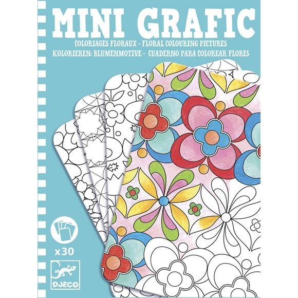 Mini Grafic - Virágos színezők 30 db Djeco floral colouring pictures | Pandatanoda.hu Játék webáruház