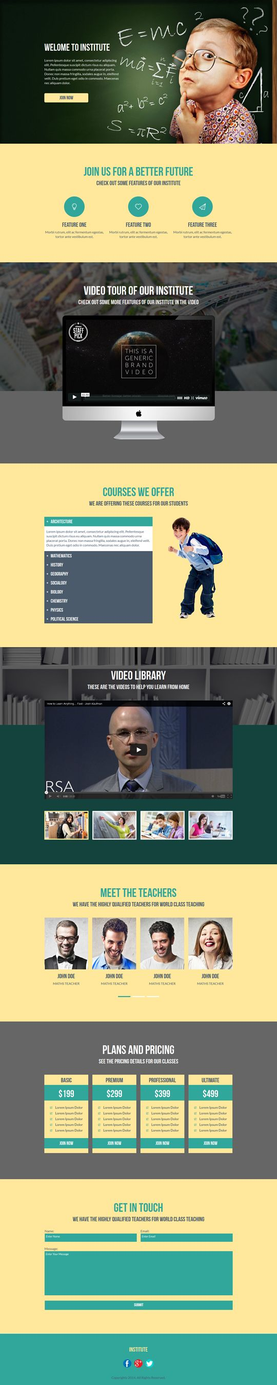 Institute is a muse landing page template. It is designed specially for education website templates. This template has some of the greatest features which makes it most wanted #muse #template for #education #websites.