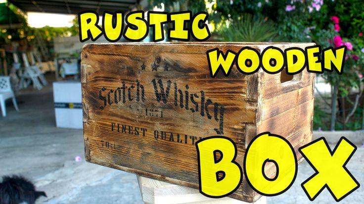 Rustic wooden box (Vecchia cassa di legno)