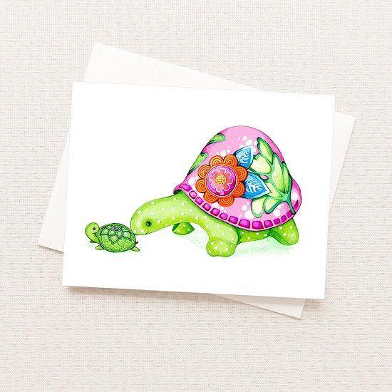 Me encanta mamá tarjetas de felicitación mamá y por AnnyaKaiArt