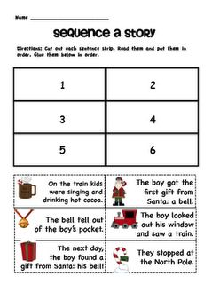 Polar Express Literacy Pack Freebie - goes with the book