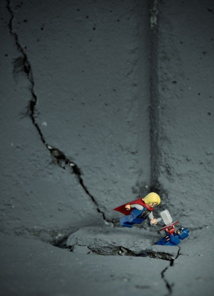 LEGO Thor with his hammer