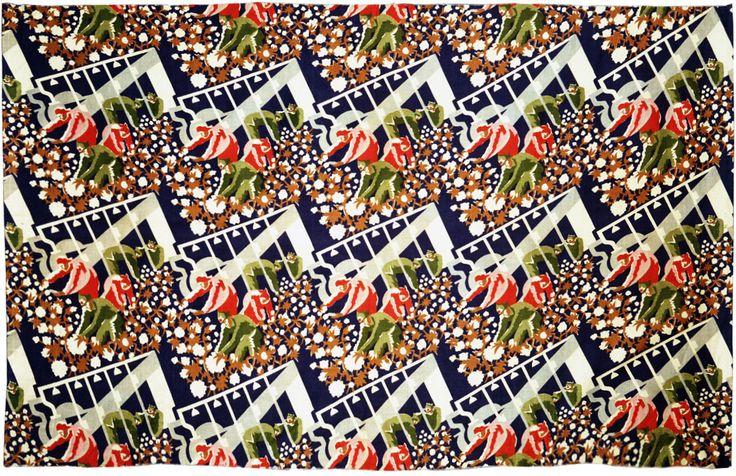 ОБРАЗЕЦ СИТЦА «КРАСНОАРМЕЙЦЫ НА УБОРКЕ ХЛОПКА» («СБОР ХЛОПКА») - Всероссийский музей декоративно-прикладного и народного искусства