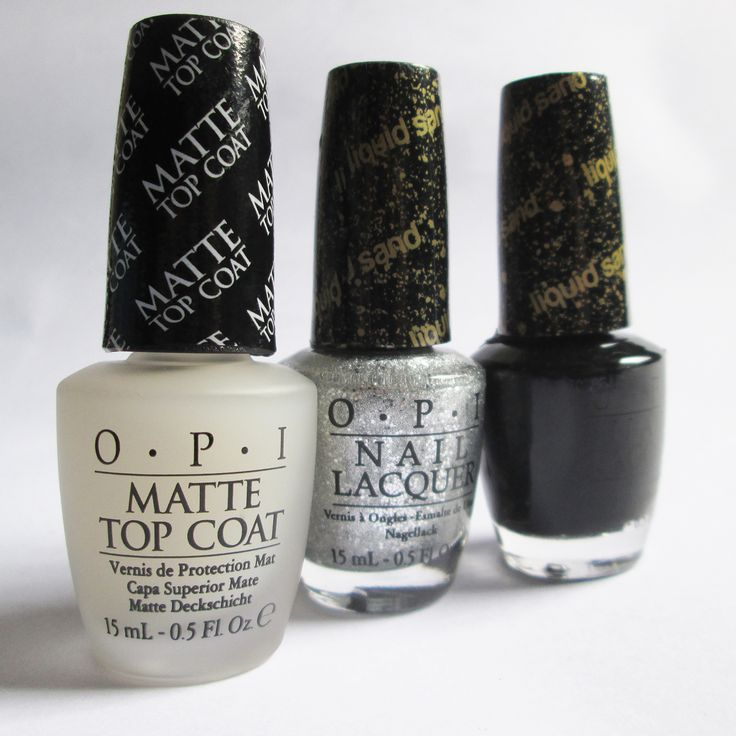 #polis #nailsart #colors #woman #fashion #glam #opi #sand #opaco #silver #black