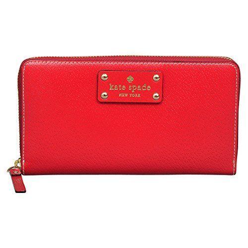 Kate Spade Wellesley Neda Wallet in Pillbox Red Kate Spad