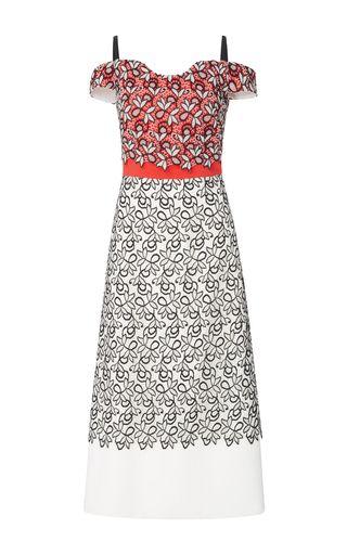 2017 Bibhu Mohapatra Cold Shoulder Dress…