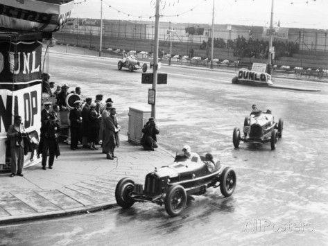 Brian Lewis in an Alfa Romeo Monza in the Mannin Moar Race, Douglas, Isle of Man, 1933 Photographic Print