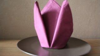 amazing napkin folding - YouTube