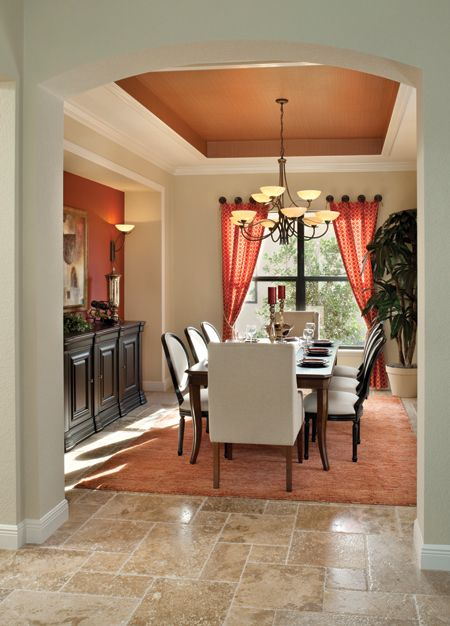 ARHomes Luxury Custom Home Photo Of Model Bardmoor 1162 Click To View Other Models Dining Room CurtainsPhotos ModelsFormal