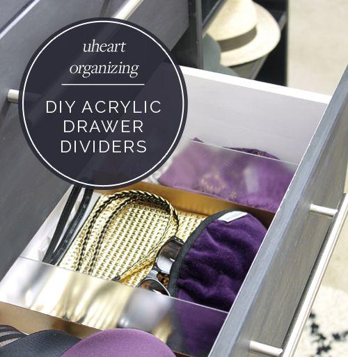 IHeart Organizing: UHeart Organizing: DIY Acrylic Drawer Dividers