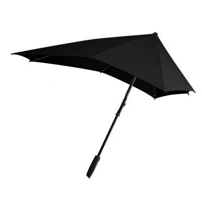 The senz° smart umbrella is designed with the principles of aerodynamics. It can handle speeds of up to 80km/h without inverting and does not compromise on the look and feel.  This is the newest and smartest storm umbrella yet from senz° and is the best value for your money in terms of design, quality and functionality.
