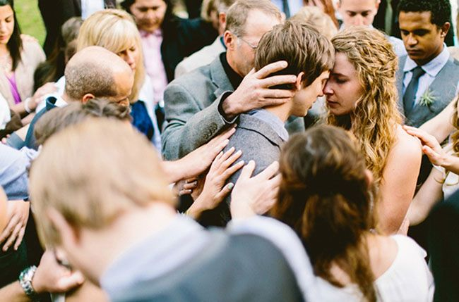 They prayed for them during the wedding. Too perfect and such a special powerful moment.