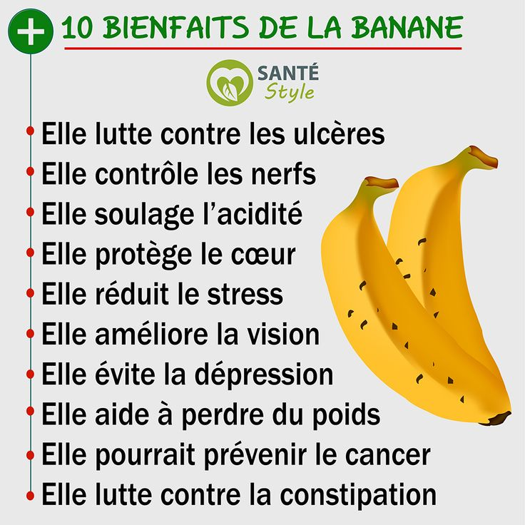 10 bienfaits de la banane   #santestyle #sante #health #aliments #food #beauté #beauty #maigrir #perdredupoids #minceur #weightloss #manger #eat #quote # ciation #psycho #nutrition #foodporn #healthyfood #motivation #healthyfacts #yoga #cancer #fruit