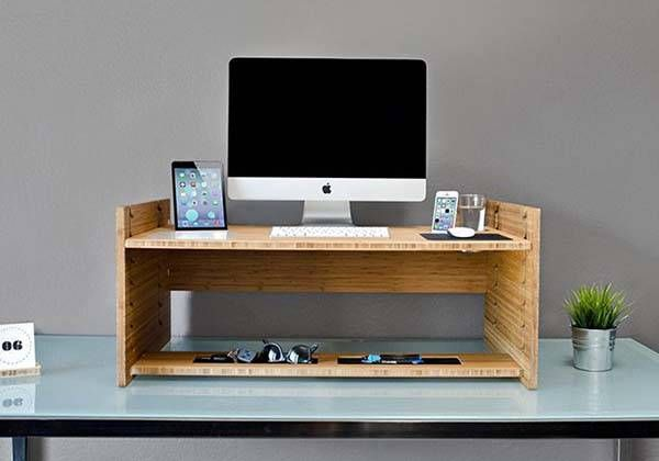 iSkelter LIFT Wooden Sit-to-Stand Smart Desk