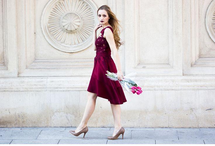 tulips marsala fashion street style