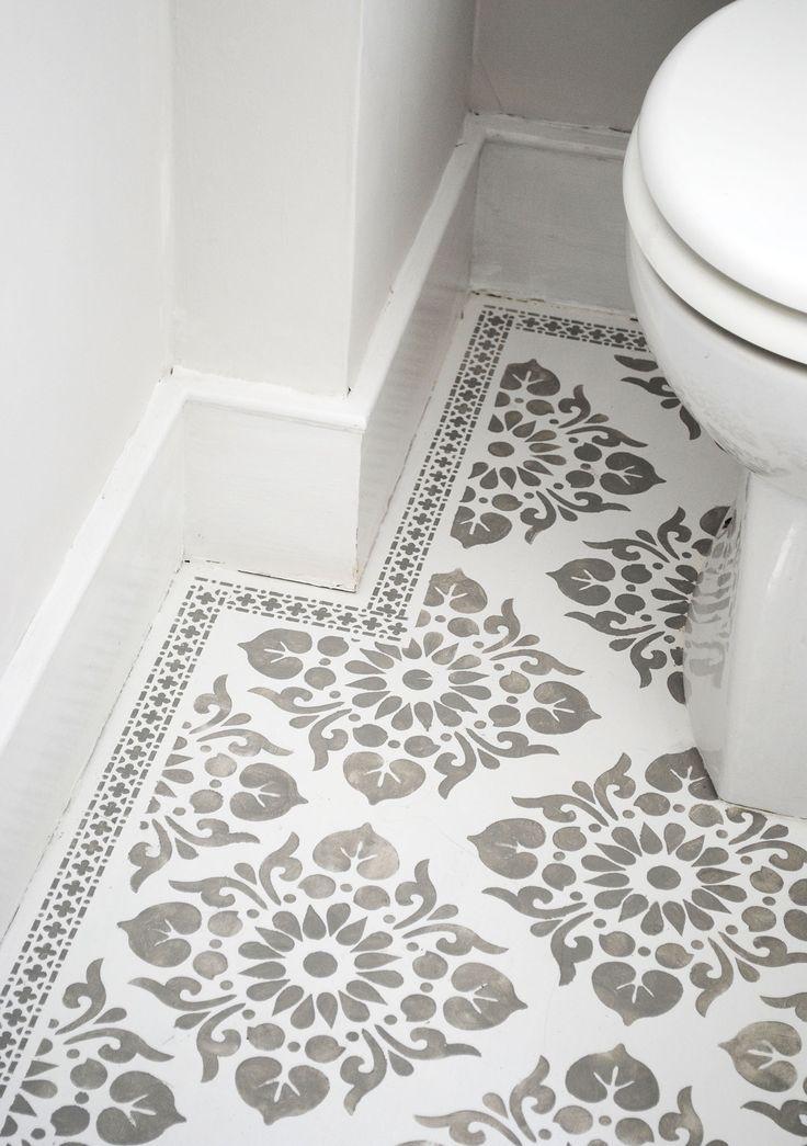 Beautiful Stencilled Floor By Nicolette Tabram Using Her
