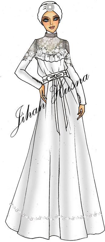 Desain Abaya Party Desain Abaya Party Pinterest