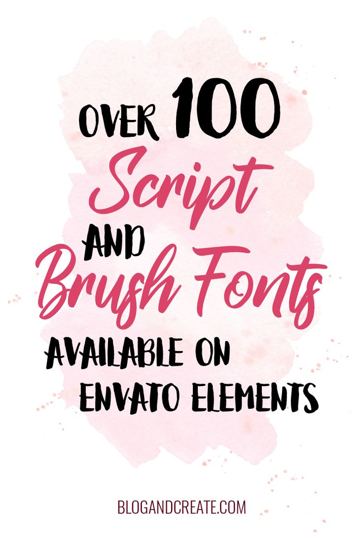 100+ of my favorite script, handwritten, and brush fonts that are available through Envato Elements, a design subscription package with resources from the Envato Marketplace | #graphicdesign #fonts #designresources