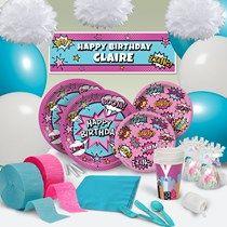 Comic Book Diva Birthday Theme - Comic Superhero Party Supplies - Shindigz