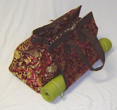 Yoga mat bag. How functional!