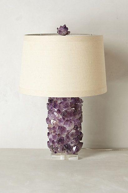 Amethyst Crystal Lamp Base  #anthropologie