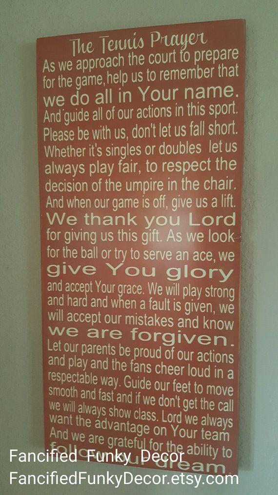 Gift for Tennis Player, Gift for Tennis Coach, Tennis Prayer, Tennis Decor, Christian Athlete, FCA Gift, Athlete Inspiration, Faith Quote  – Rodger Federer