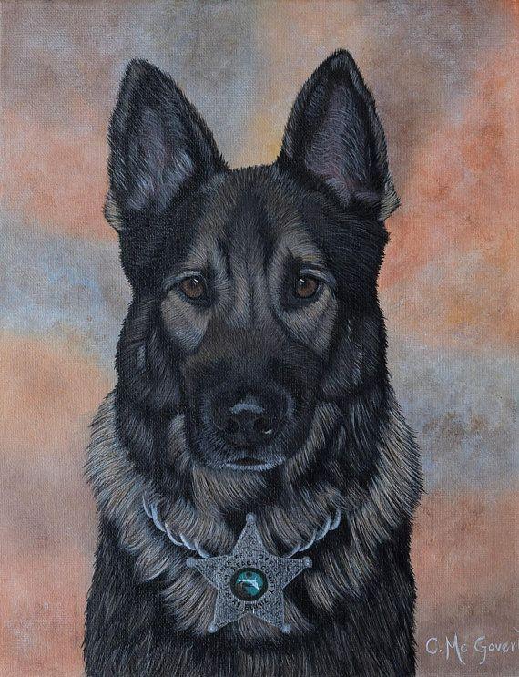 Custom Dog Painting Pet Portrait Dog Portrait Form Photo K9