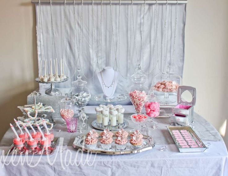 Girly Bling Themed Party- view article by clicking view or click on the image to view the blog post containing details to create your own styled party!