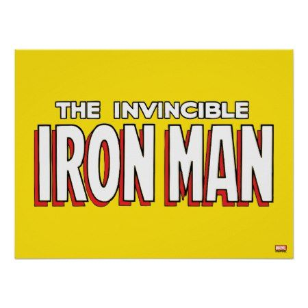 The Invincible Iron Man Logo Poster - tap, personalize, buy right now!