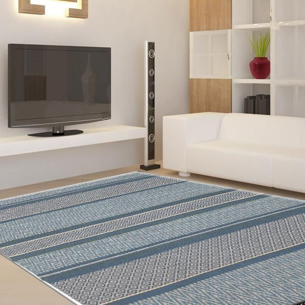 SKY DREAM WOOL VISCOSE FLAT WOVEN FLOOR RUGS
