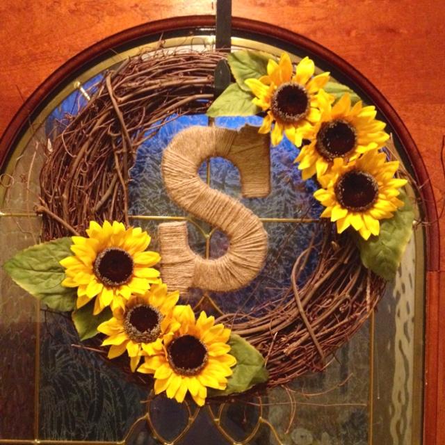 Sunflower wreath. @Courtney Baker Daley