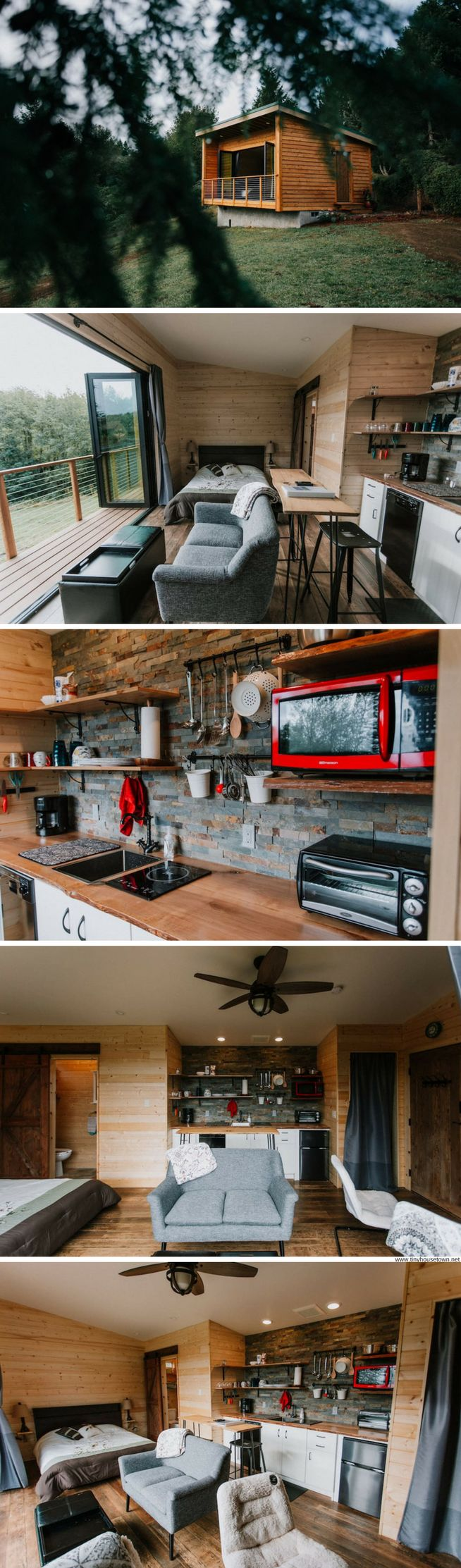 Mt Hood Cabin with a glass moving wall system that opens the home up to the outdoors!