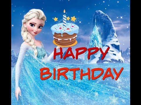 ⛄ Canción de Feliz cumpleaños ♥ Happy Birthday FROZEN- Anna Elsa Olaf - Para niños infantil - YouTube