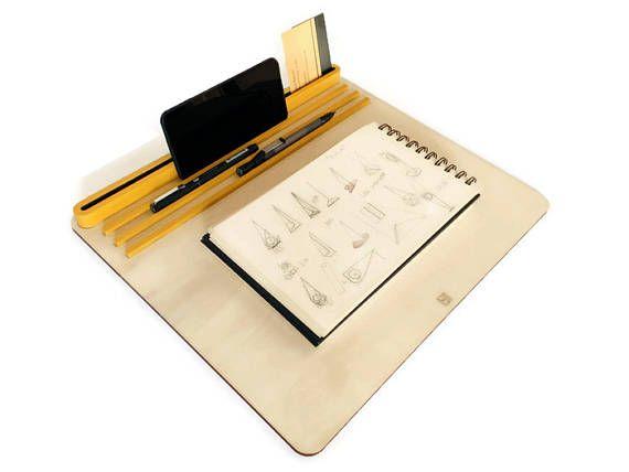Laser cut wood laptop standtablet standbed