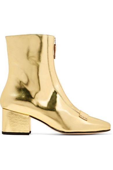 DORATEYMUR | Double Delta mirrored-leather ankle boots | NET-A-PORTER.COM