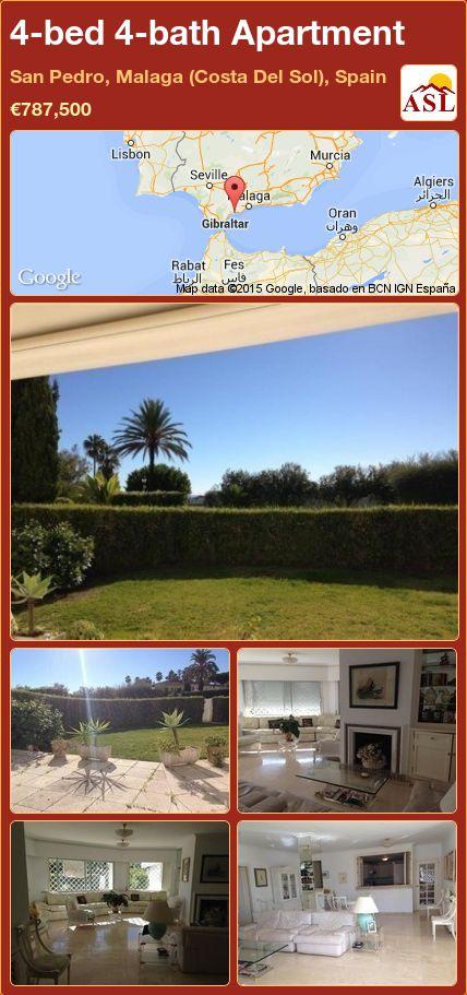 4-bed 4-bath Apartment in San Pedro, Malaga (Costa Del Sol), Spain ►€787,500 #PropertyForSaleInSpain