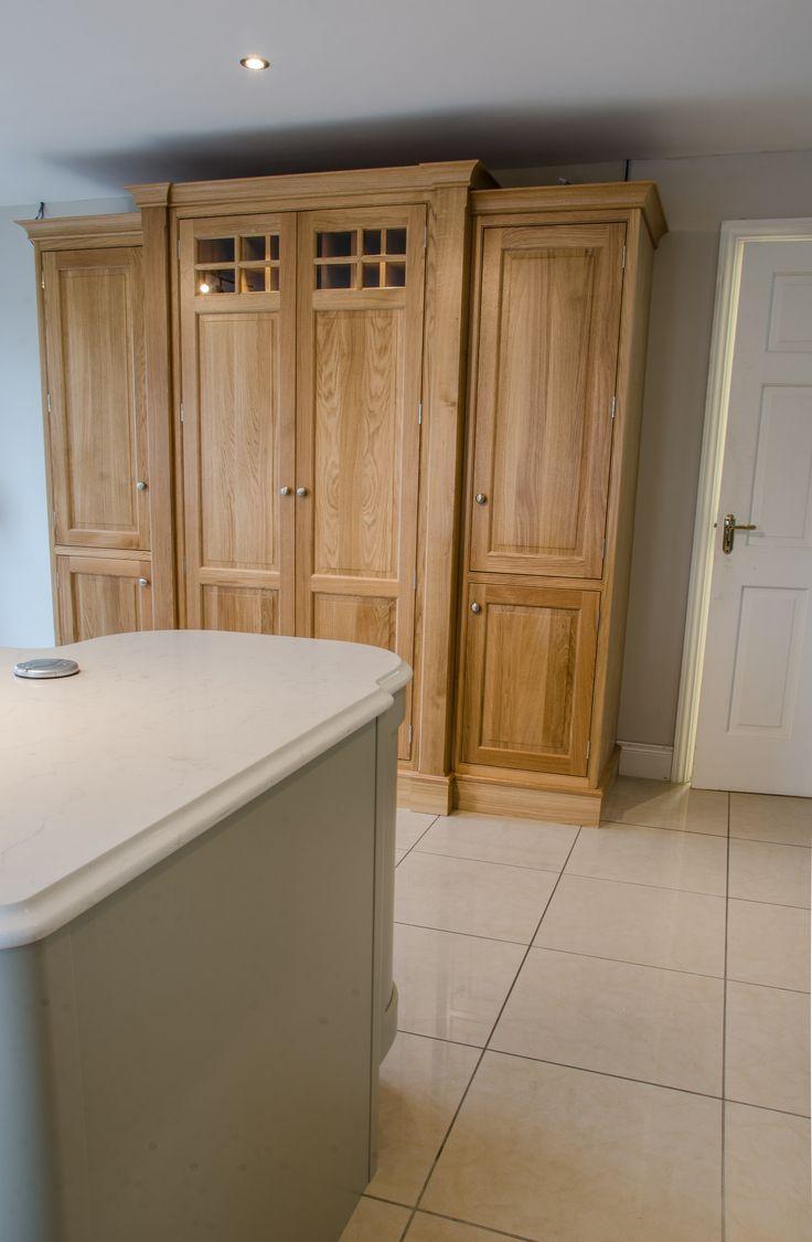 Elegant oak inframe kitchen at Newhaven Kitchens Carlow.