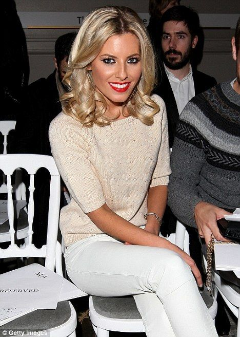 ♥ Mollie King braving light colours... No red wine.  Just red lips
