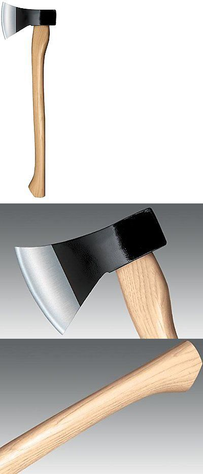 Camping Hatchets and Axes 75234: Rugged Outdoor Camping Axe Trail Boss Hickory Handle Cold Steel Hiking New BUY IT NOW ONLY: $32.81