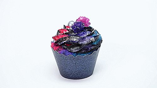 "delightful-mouthful: "" How to Make Galaxy Cupcakes "" Galaxy food."