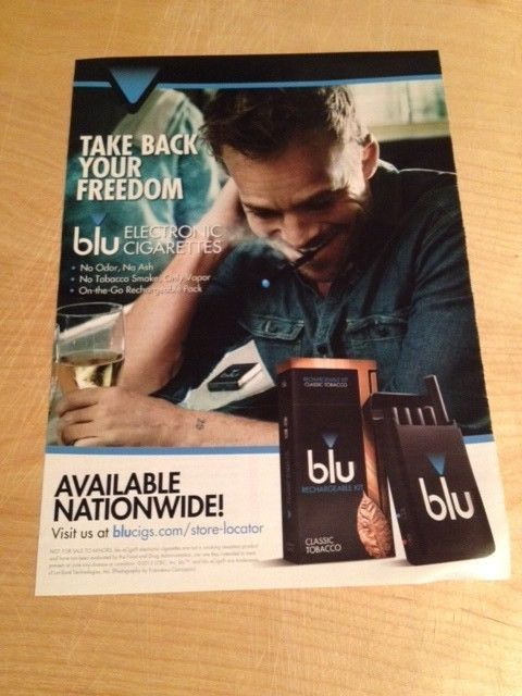 2014 Magazine Print Ad with STEPHEN DORFF for BLU Electronic Cigarettes #Blu