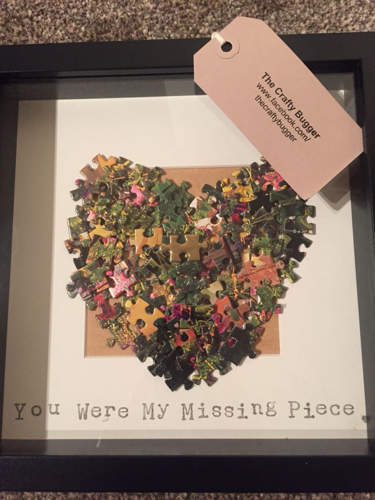 The Crafty Bugger - jigsaw frame -missing piece - love