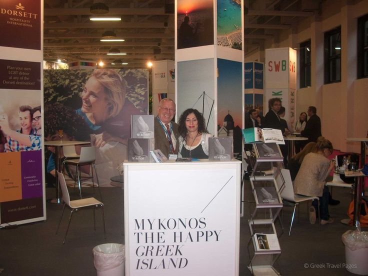 Greek travel agency Mykonos Accommodation Center at a stand in cooperation with LifeThink presented to the LGBT travel market at this year's ITB The gay friendly hotspots of Mykonos. A very tasteful book show all of the island's gay-friendly hotspots as bars, clubs, restaurants and hotels. An IGLTA member for the past 20 years, the Mykonos Accommodation Center represented the following Greek hotels at ITB Berlin: Semeli, Elysium, Greco Philia Suites, Mykonian Mare Hotel and Myconian K…