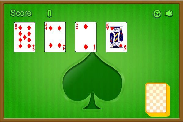 In Aces Up Solitaire you need remove all the cards by clicking on them until only the 4 Aces are left.