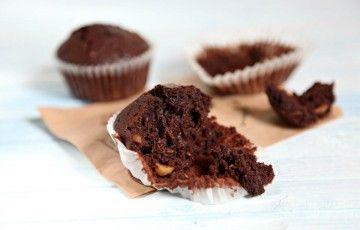 Muffin al cioccolato e nocciole senza burro