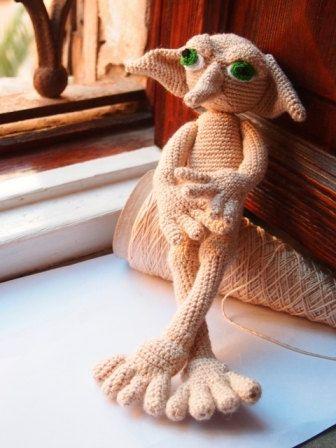Elfo Amigurumi  Inspirado en Dobby: Patrón de por Malespintes