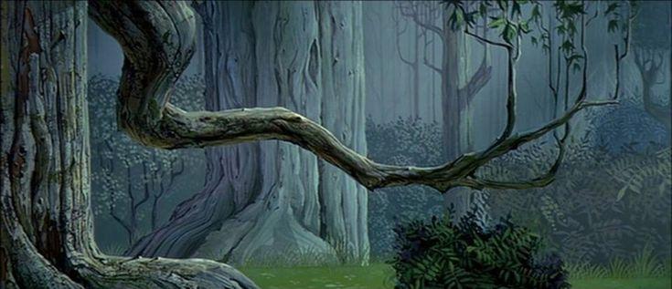 Eyvind Earle Sleeping Beauty Concept Art