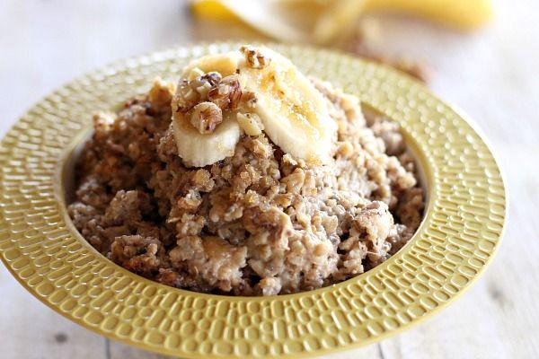 Crockpot Oatmeal Recipes: Crockpot Banana Nut Oatmeal 4