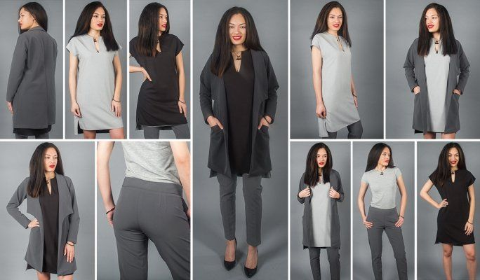 A stylish, versatile 3-piece travel suit, featuring a reversible tunic dress. Incredibly comfy, quick-drying, wrinkle-resistant.