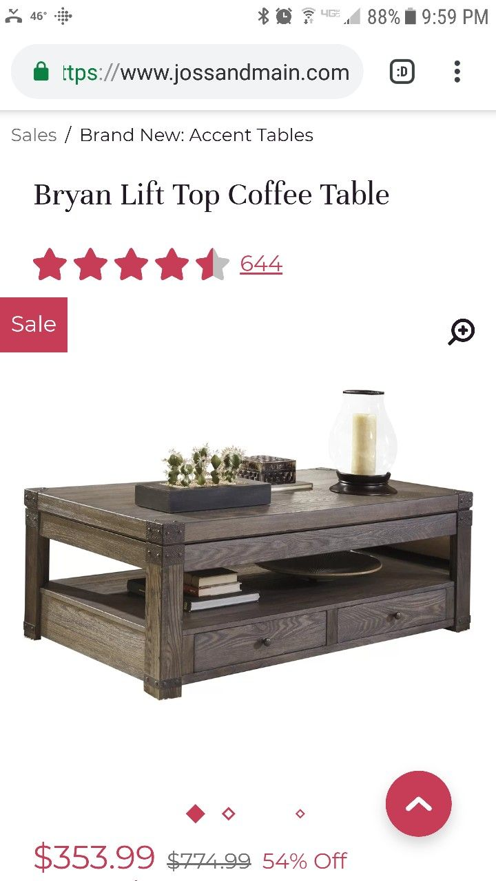 Pin By Krista Heinzer On Living Room Accent Table Lift Top Coffee Table Table [ 1280 x 720 Pixel ]